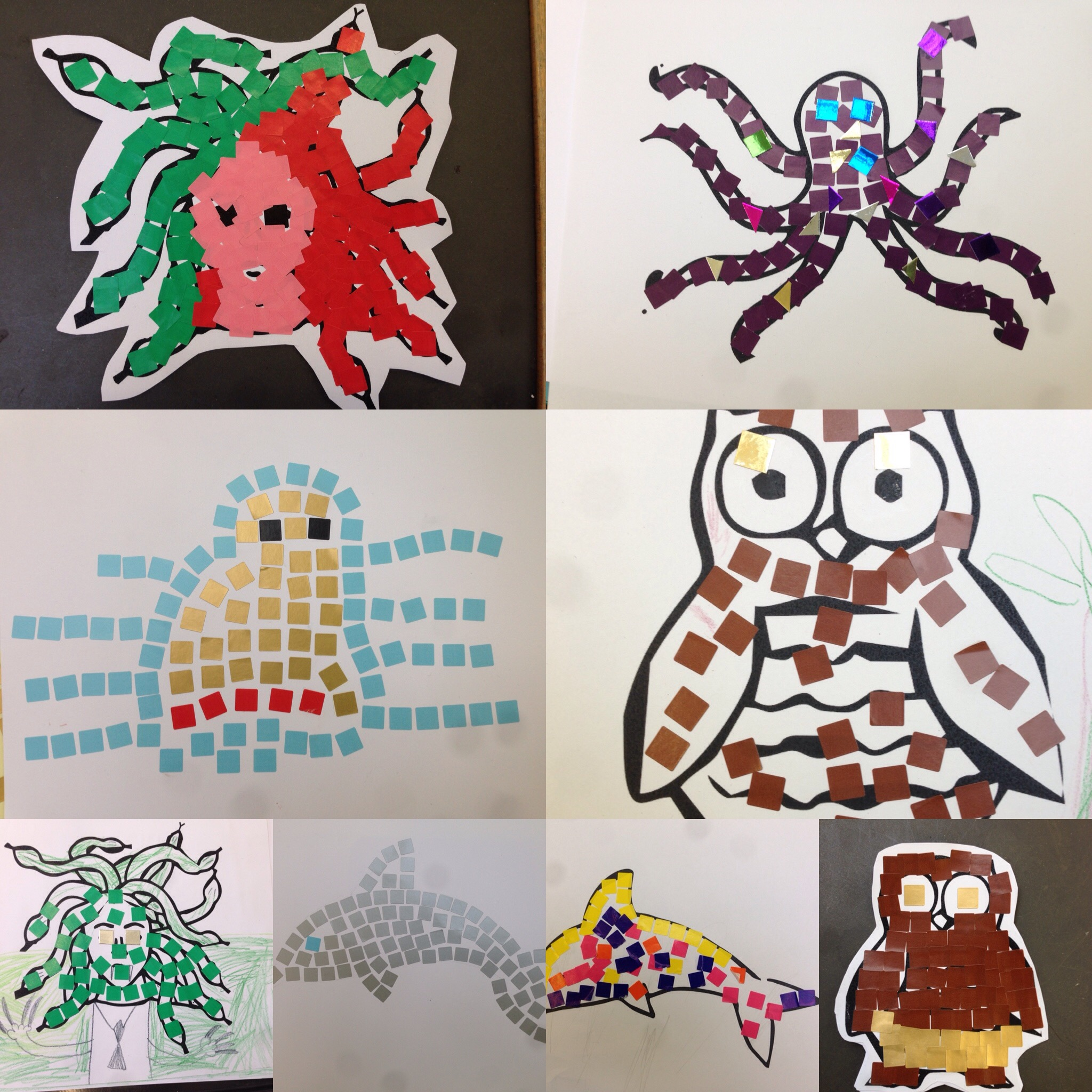 Some creations from our lovely Owls!